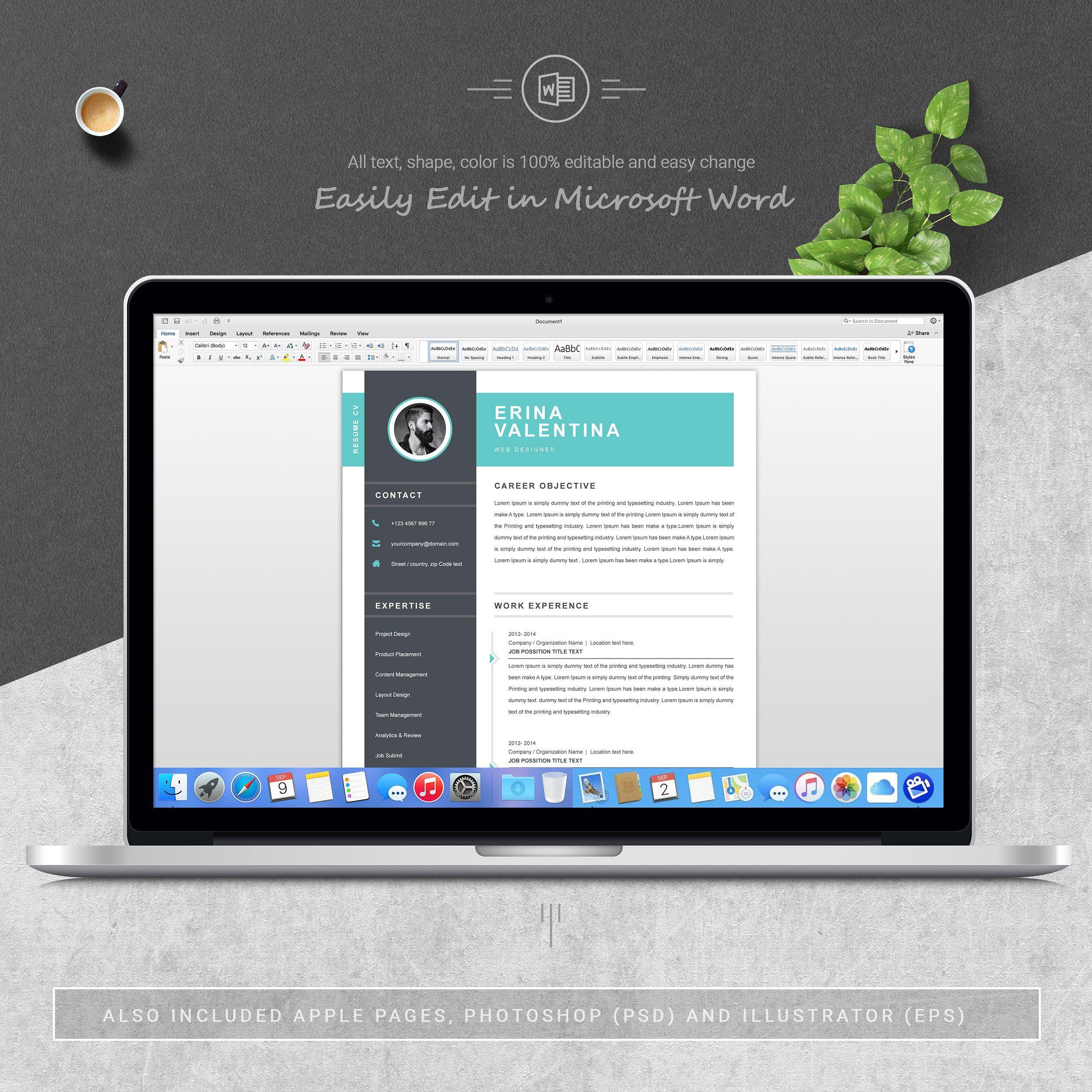Resume Resume design, Resume template professional