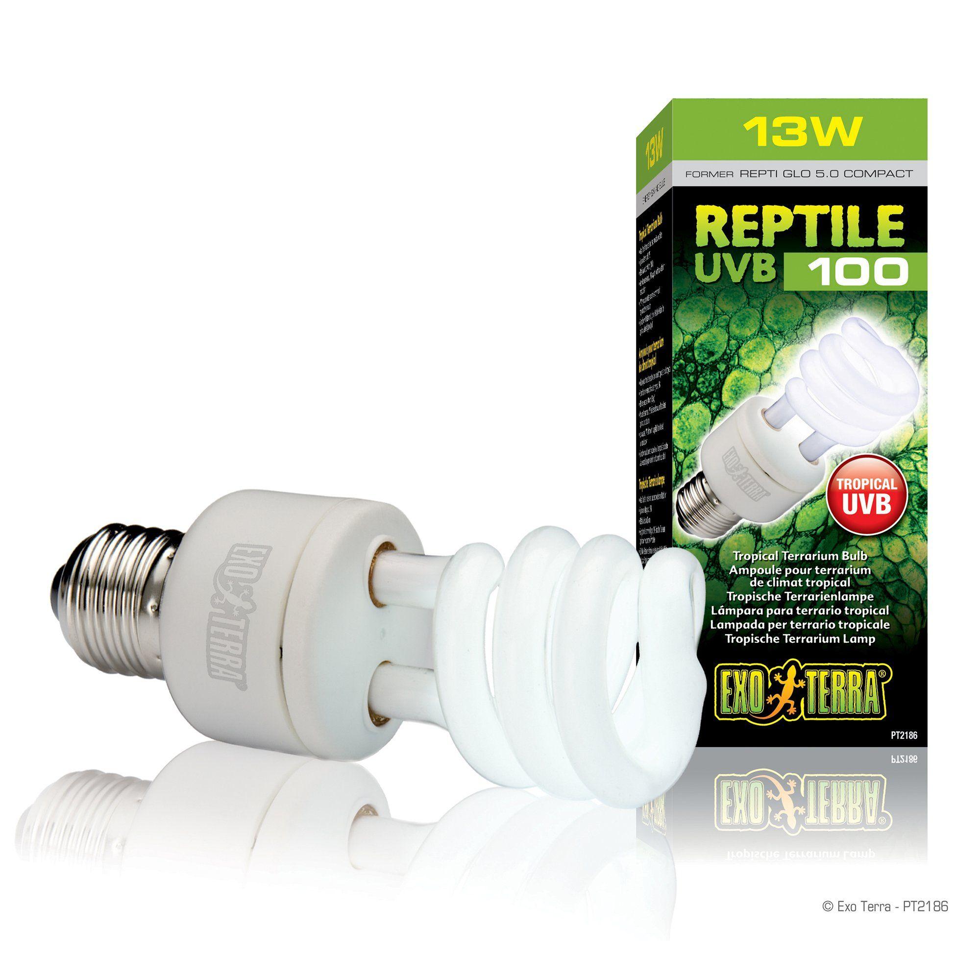 Exo Terra Reptile Uvb 100 13w Tropical Terrariums Terrarium