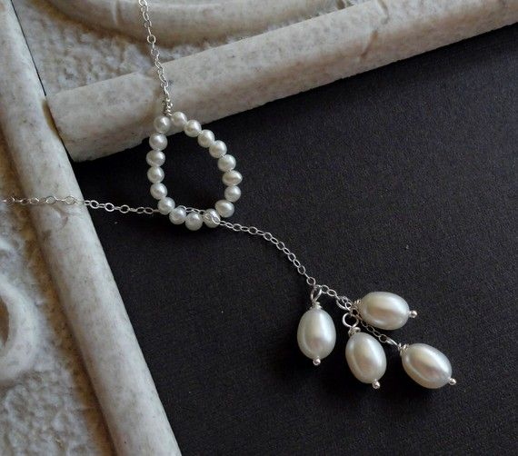 a lovely pearl lariat necklace.