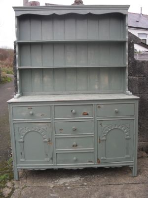 My Obsession With Farmhouse Dressers Continues: Shabby French Chic Antique  Welsh Dresser Kitchen Dresser