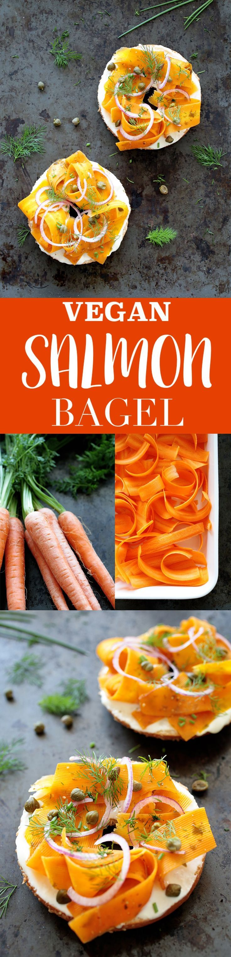 Vegan Salmon Bagel • Green Evi Recipe Salmon bagel