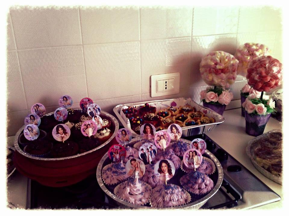 """Muffin """"Violetta"""" e alberelli di Marshmallow"""