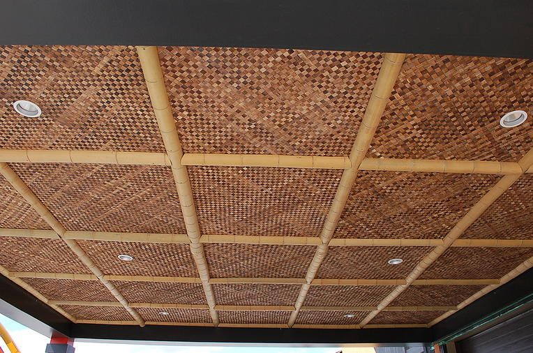 Bamboo Matting Ceiling Google Search Bamboo Ceiling Bamboo Panels Bamboo House