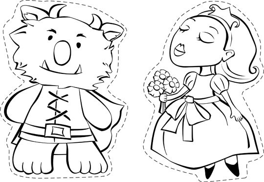 paper bag princess characters coloring pages | Beauty and the Beast | 20 Must Follow Moms | Paper bag ...