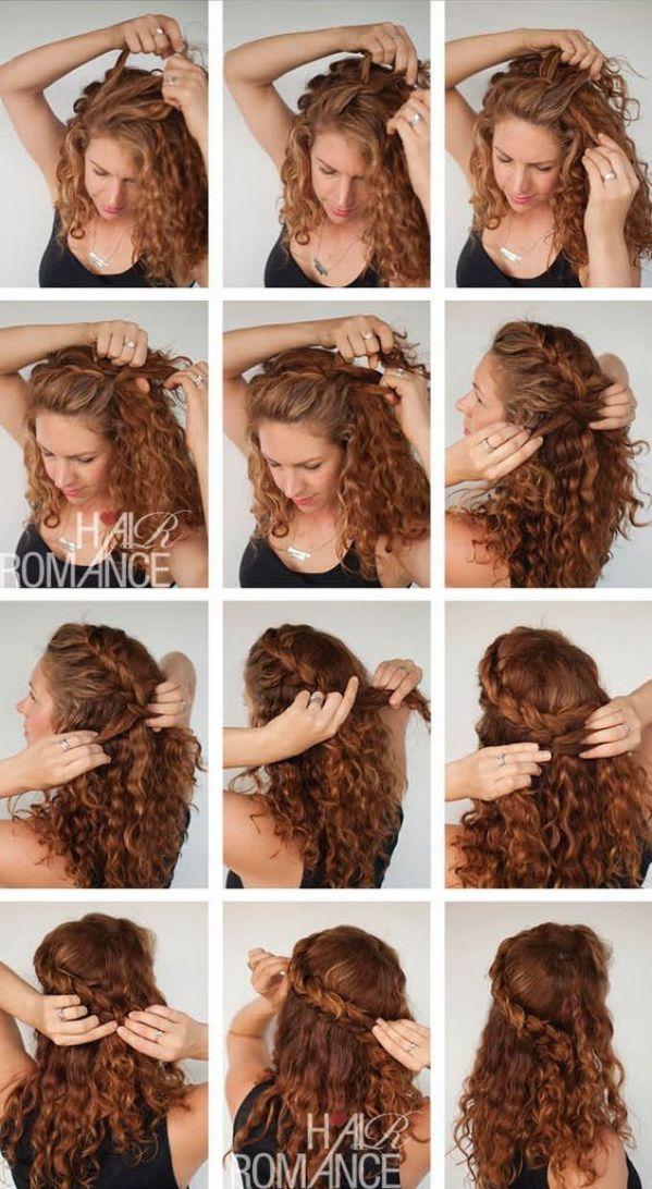 Hermosos peinados pelo rizado para todos los d as - Tutorial de peinados ...