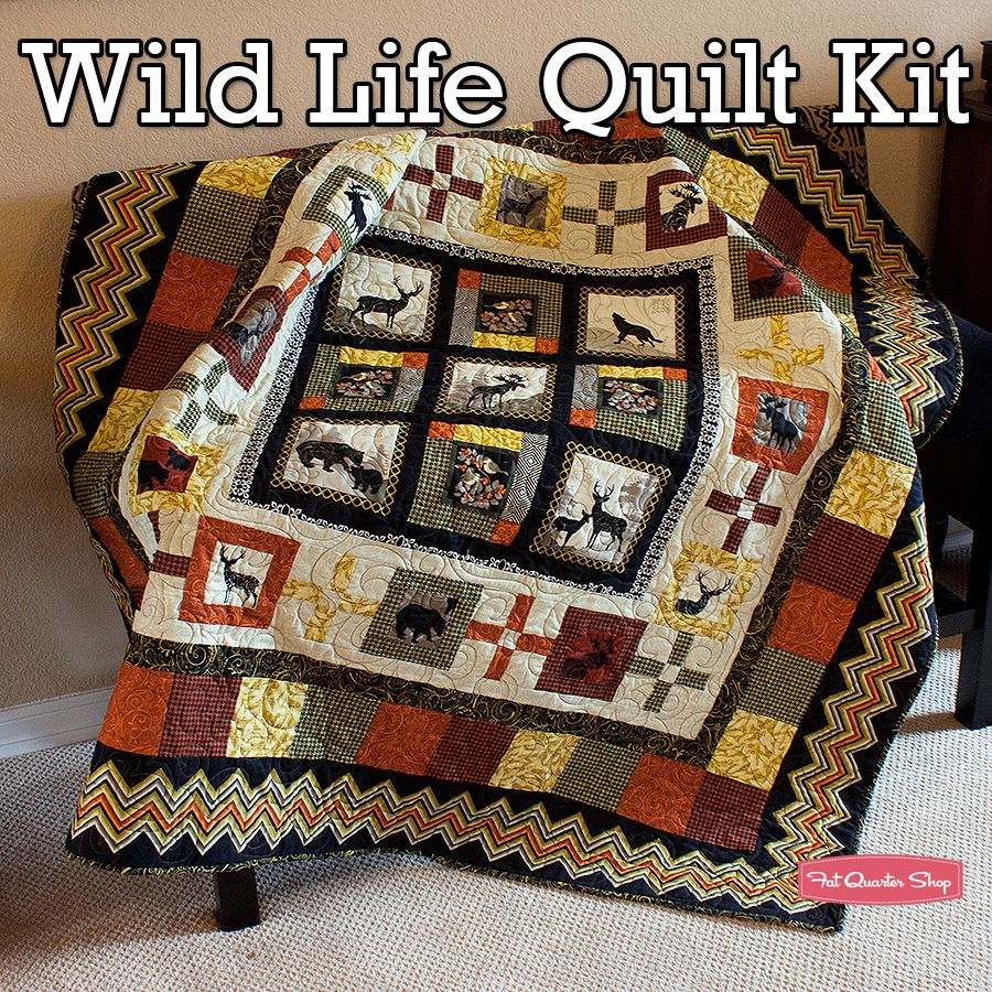 Wild Life Quilt Kit Featuring Wilderness Lodge by Studio E Fabrics - Fat Quarter Shop