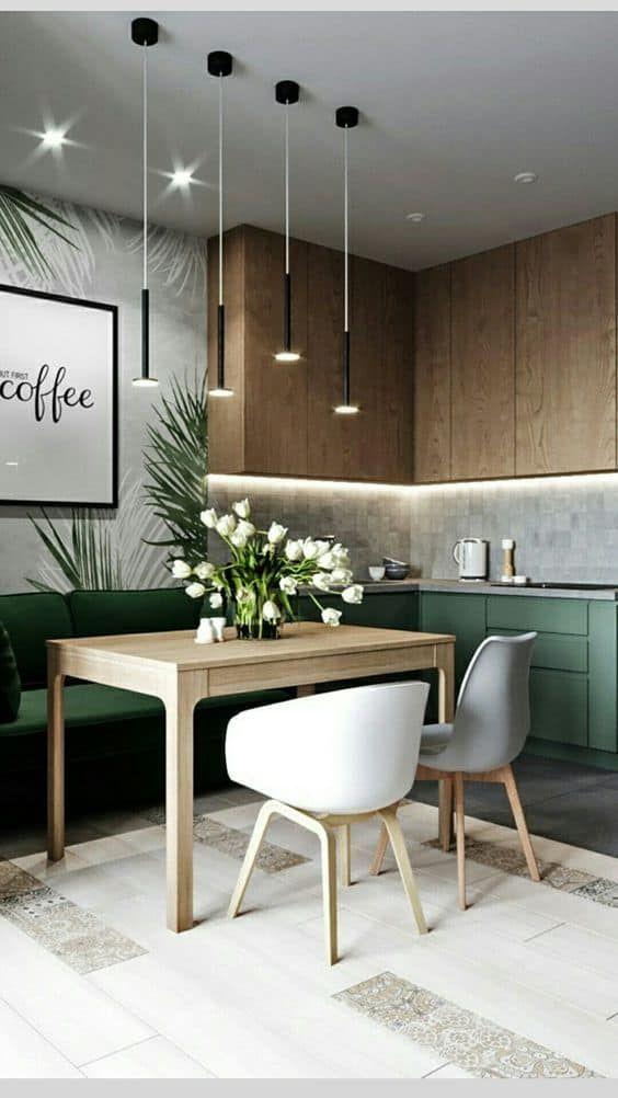 Cocinas Combinadas En Dos Colores 35 Ideas Diseno De Interiores De Cocina Decoracion De Interiores Muebles De Lujo