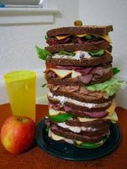 The Sandwich Diet  http://www.examiner.com/list/unusual-diets-happiness-diet-baby-food-diet-air-diet-fork-diet-and-others