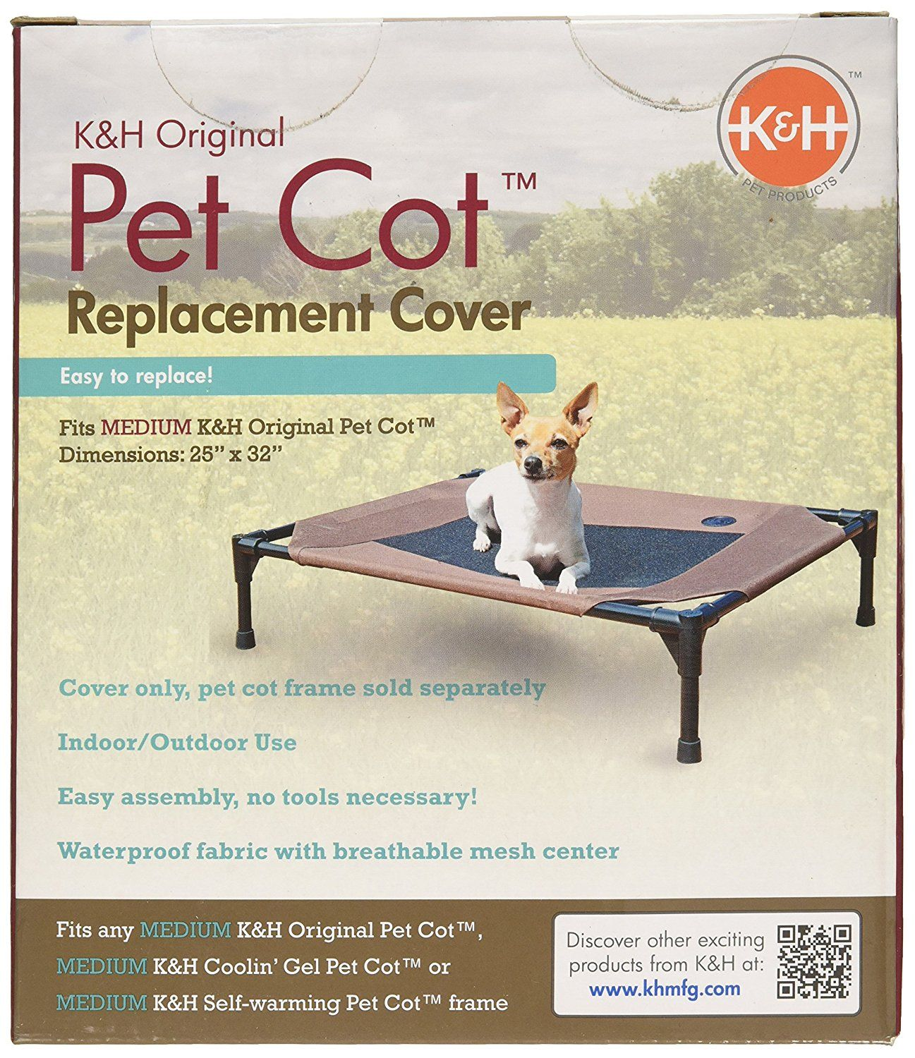 Kandh Manufacturing Original Pet Cot Replacement Cover Frame Not