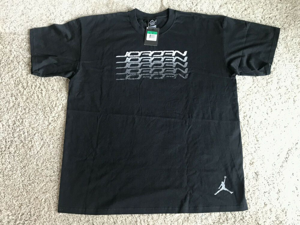 Vintage Jordan Retro Metallic Black Cement T Shirt Sz Xl New W