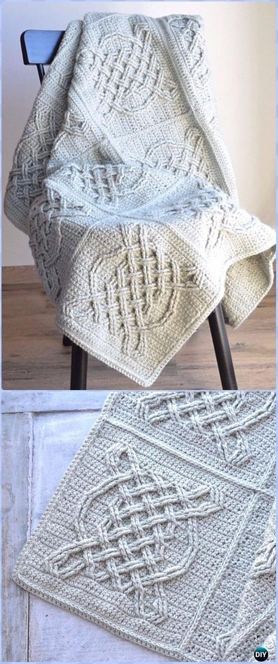 Crochet Celtic Tiles Blanket Free Pattern - Crochet Block Blanket ...