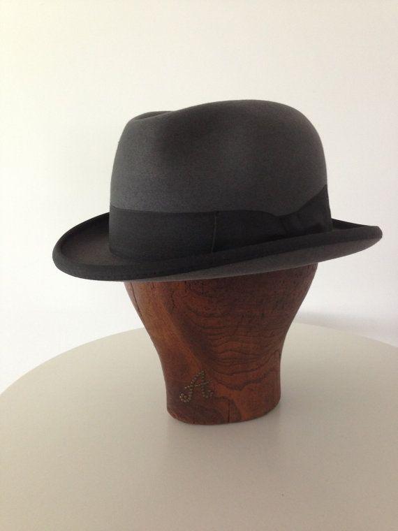 6427177d5b013 Fur felt Homburg Medium gray Godfather Hat by DaquinoHats on Etsy