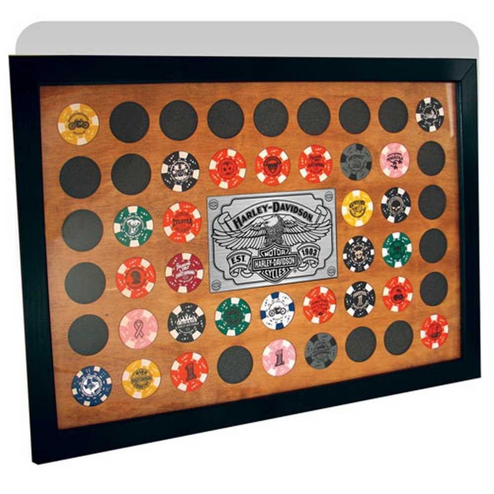 HarleyDavidson Poker Chip Frame 48 Count