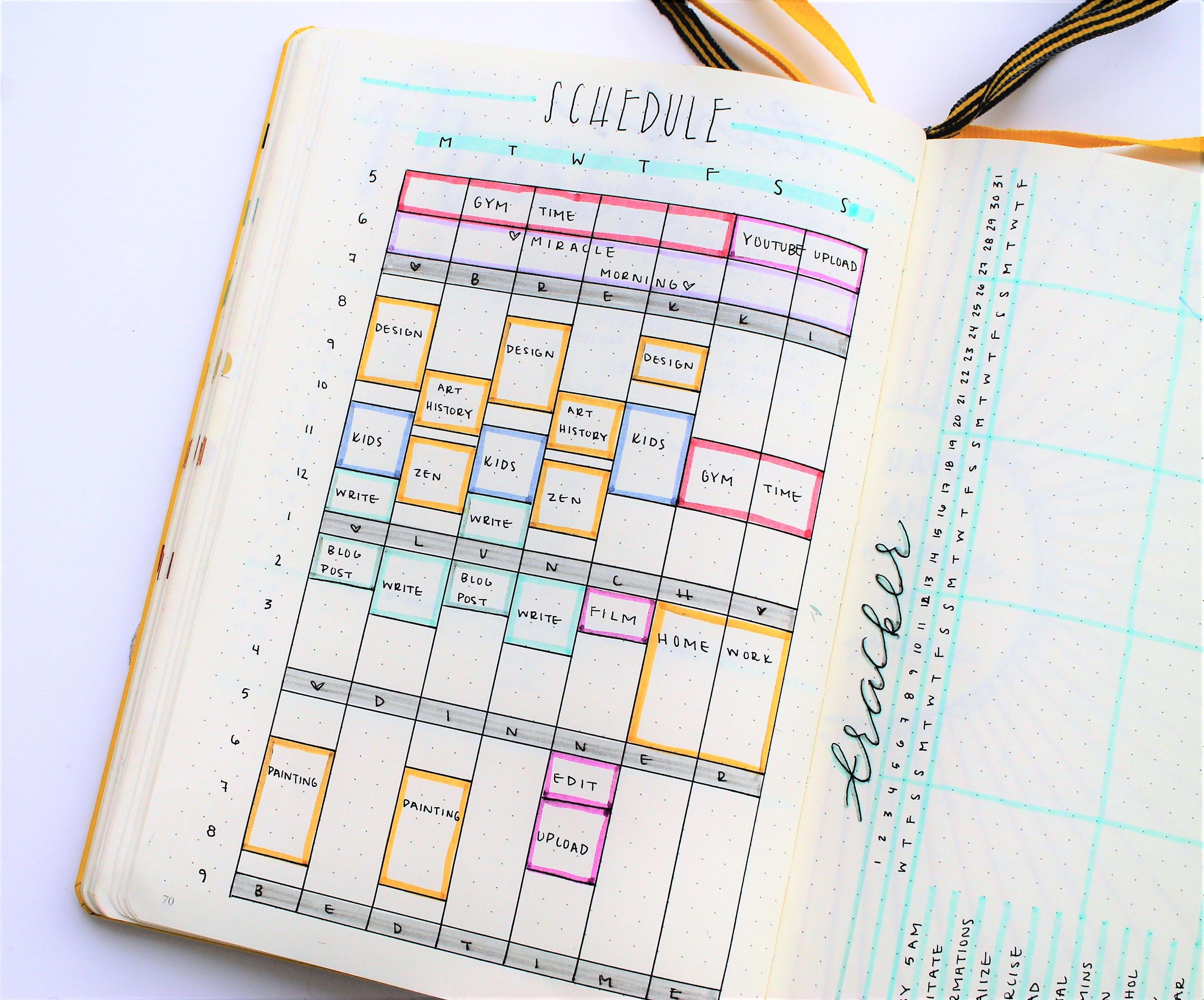 Bullet journal update march 2017 bullet journal for Time design planner