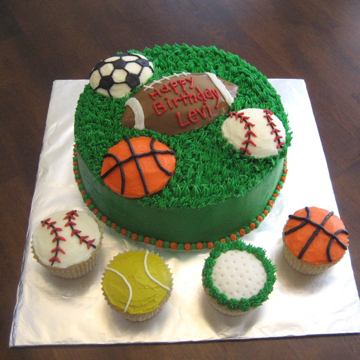 sports cakes Mimis Cupcakes Sports Cake Cupcakes 1st