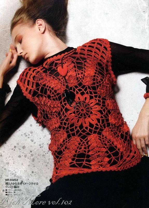 Modelos e esquemas das revistas japonesas | Crochet | Pinterest ...
