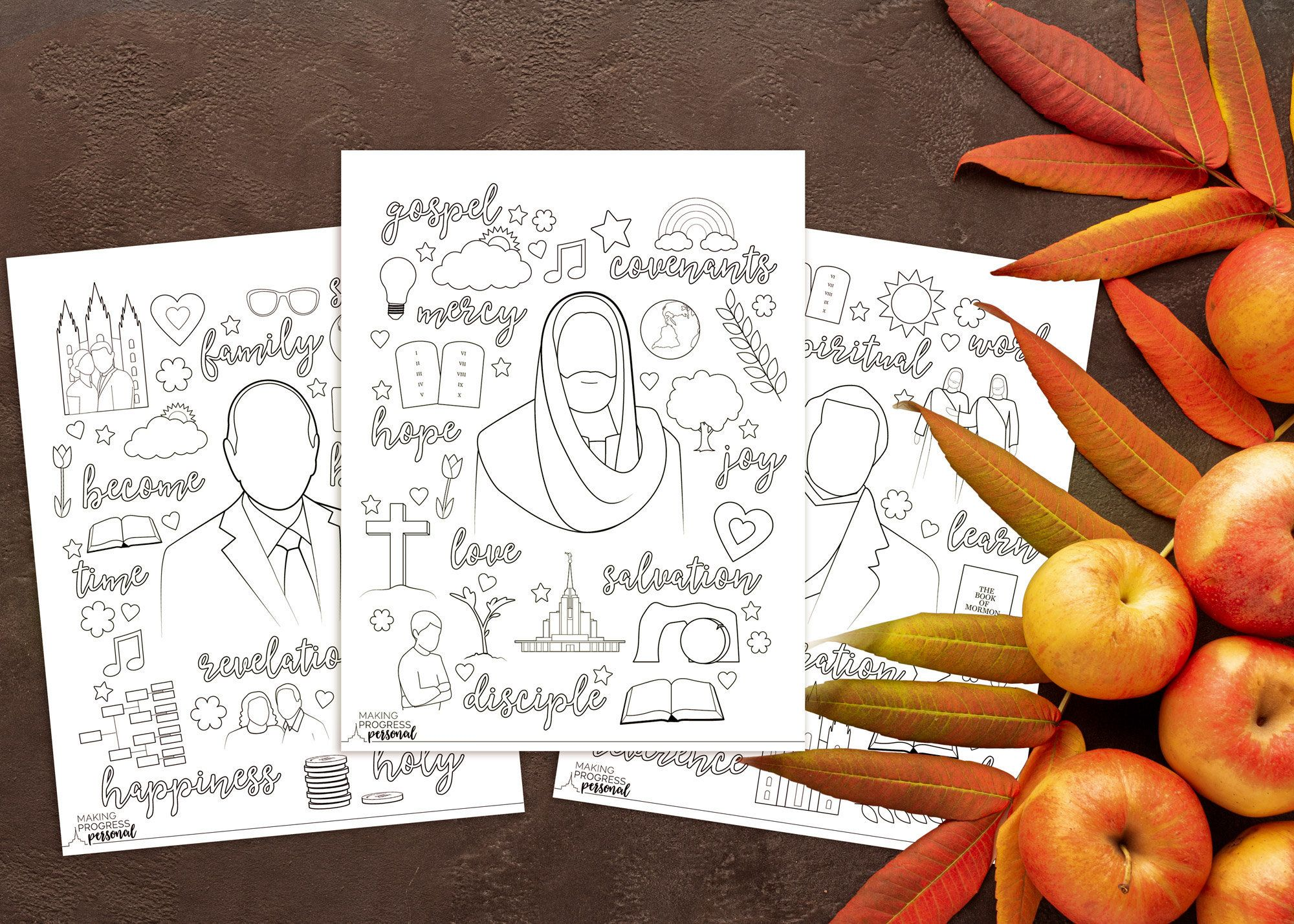 October 2020 General Conference Coloring Page Packet Set Of 3 In 2020 General Conference Coloring Pages Youth Theme