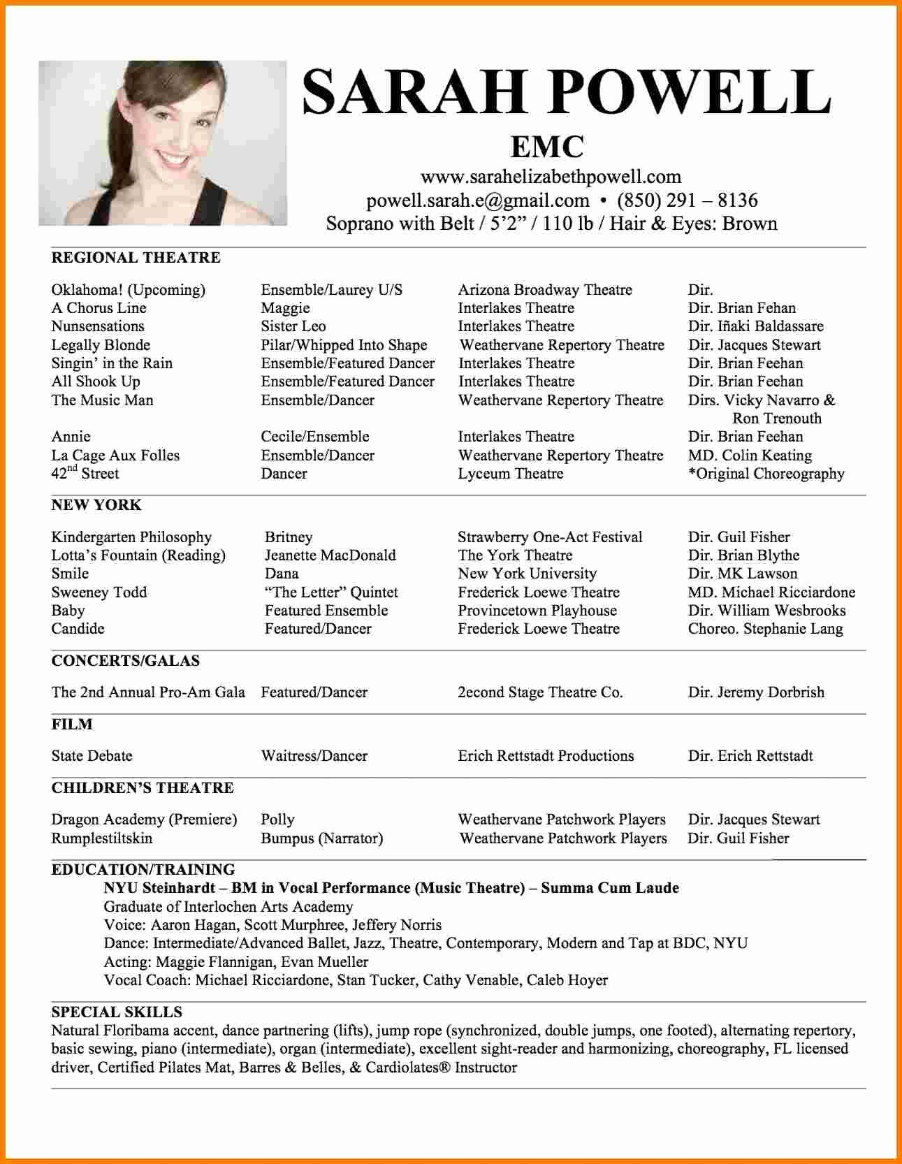 One page resume examples new 5 best one page resume