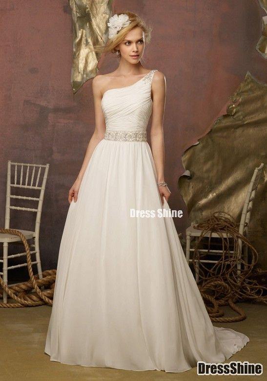 I like this - A Line One-Shoulder Chiffon Beach Wedding Dress. Do you think I should buy it?