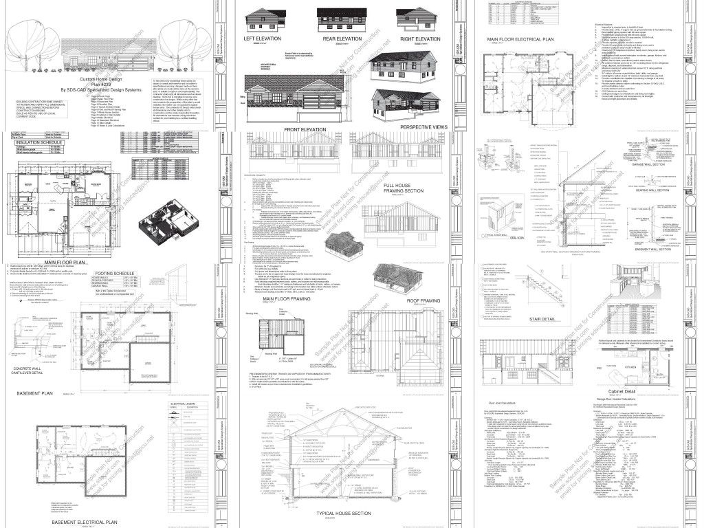Free Complete House Blueprints