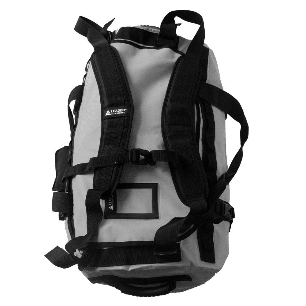 Canoe Gear    Leader Accessories Deluxe Water Resistant PVC Tarpaulin  Duffel Bag Backpack Grey 70L    Check out the image link more details. a053f34590a67