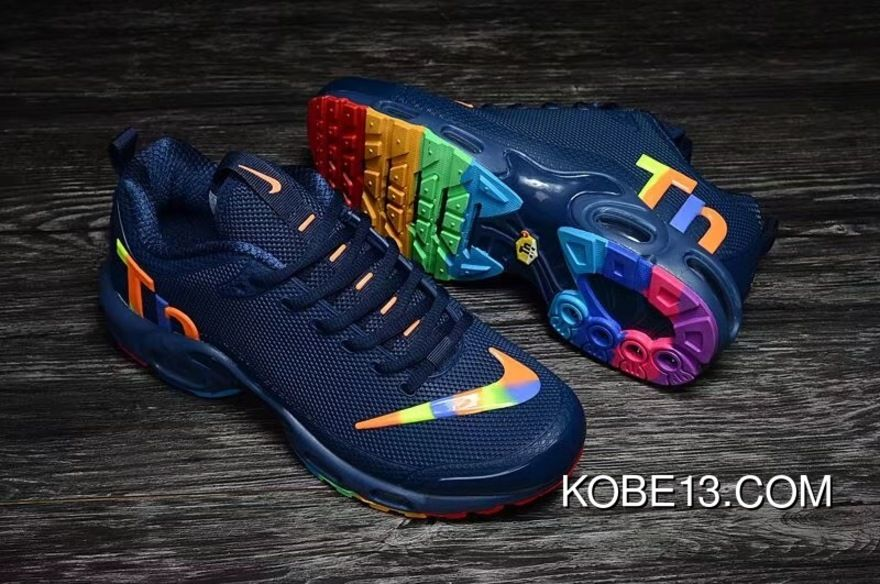 cf0ef8ad619 Blue Multi-Color Nike Air Max Tn Nanotechnology Plastic Mercurial Tn  Plastic Nanotechnology KPU Material Durable Non-Rupture New Style