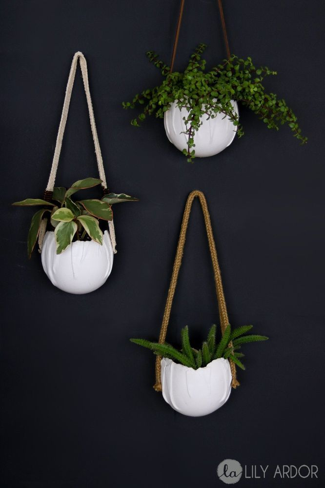 How To Use A Balloon To Make Gorgeous Hanging Planters Wall