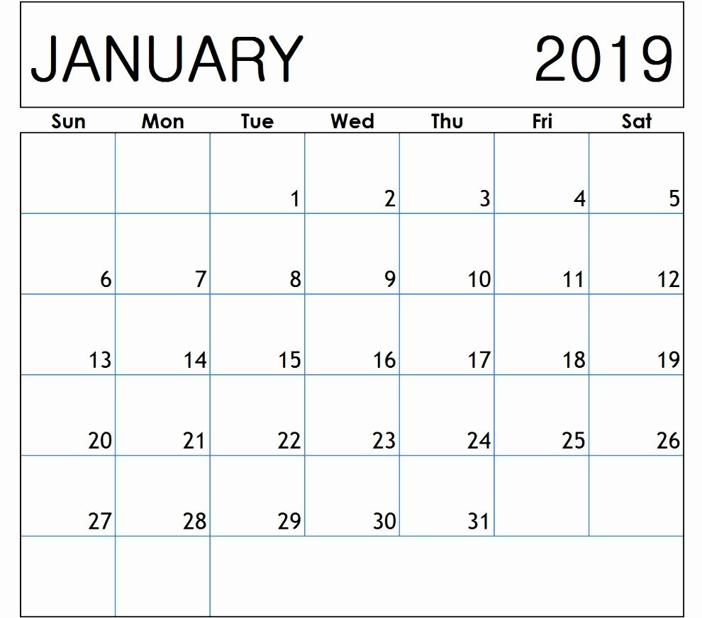 January 2019 Calendar Canada Httpswww Tjanuary 2019 Calendar