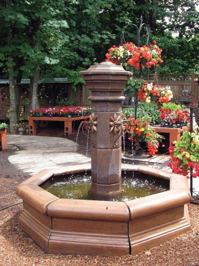 Straza Cast Stone Outdoor Fountain