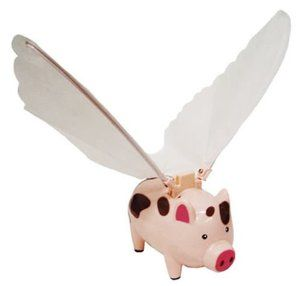 Pigs can fly...