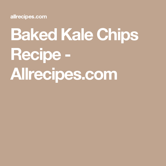 Baked Kale Chips Recipe - Allrecipes.com