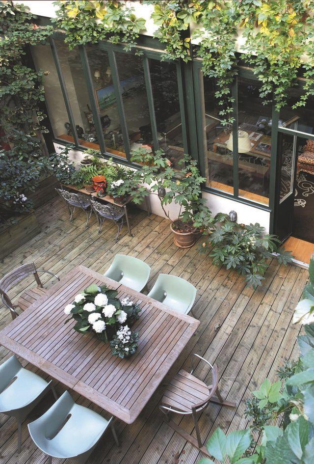 Jardin et terrasse : zen, design, en bois | Outdoor spaces, Patios ...