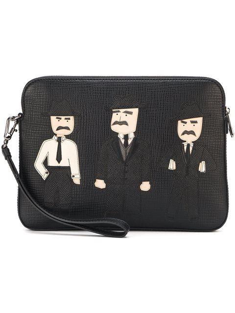deb84d597b DOLCE   GABBANA Sicilian Men Patch Clutch.  dolcegabbana  bags  shoulder  bags  clutch  leather  hand bags