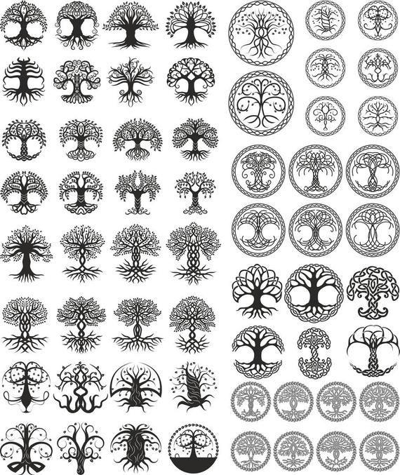 Tree. big set (vector)