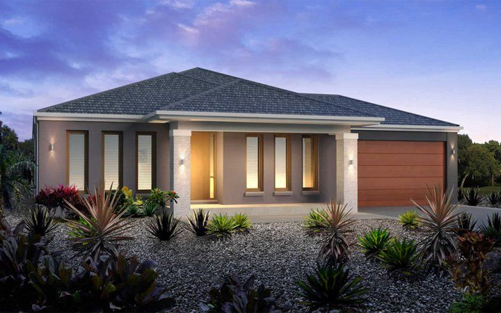 Metricon home designs the santorini kingston facade visit - New home designs victoria ...