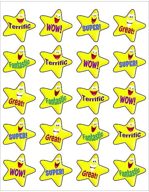 Teacher Stickers with Stick Figure Teacher Printed for Classroom Supplies Set of 30 Personalized