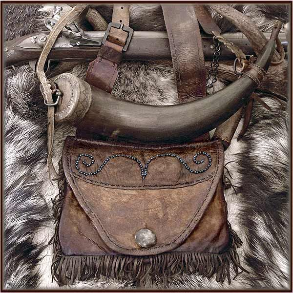 Possible Bag Powder Horn Very Nice Mountain Man