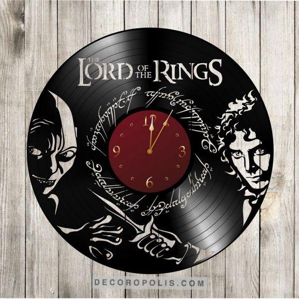 Lords Of The Rings Vinyl Record Clock Laser Engraving Decor Luminarias De Pvc Relogios Ideias