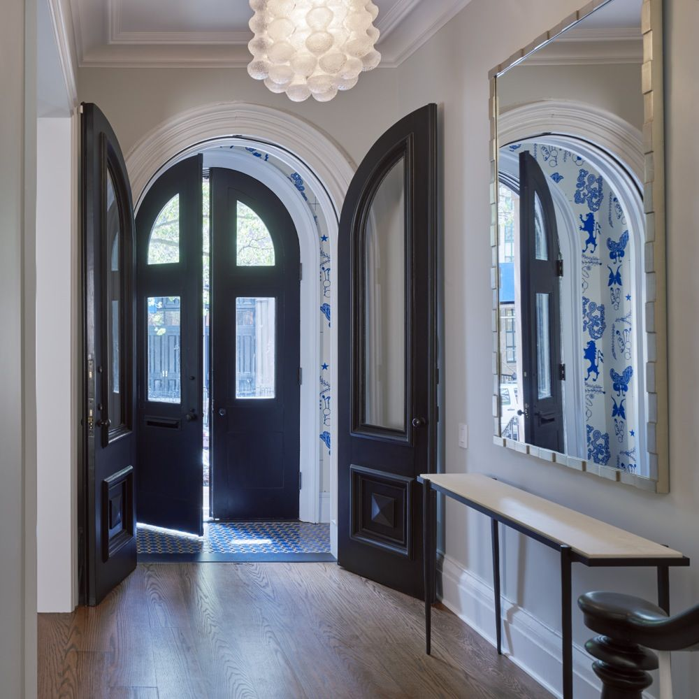 House Foyer Uk : Vestibule wallpaper and floor tile