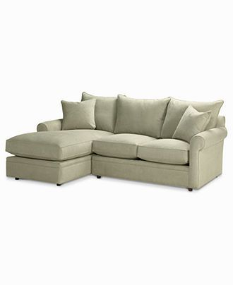 Doss Fabric Microfiber Sectional Sofa 2 Piece Loveseat & Chaise