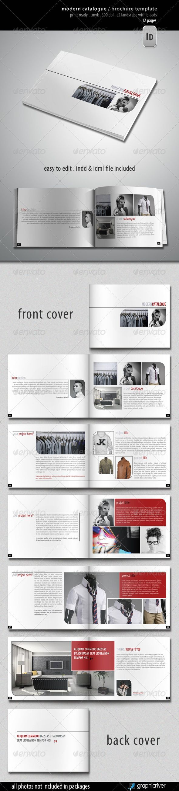 Modern Catalogue Brochure Template Graphicriver Item For Sale