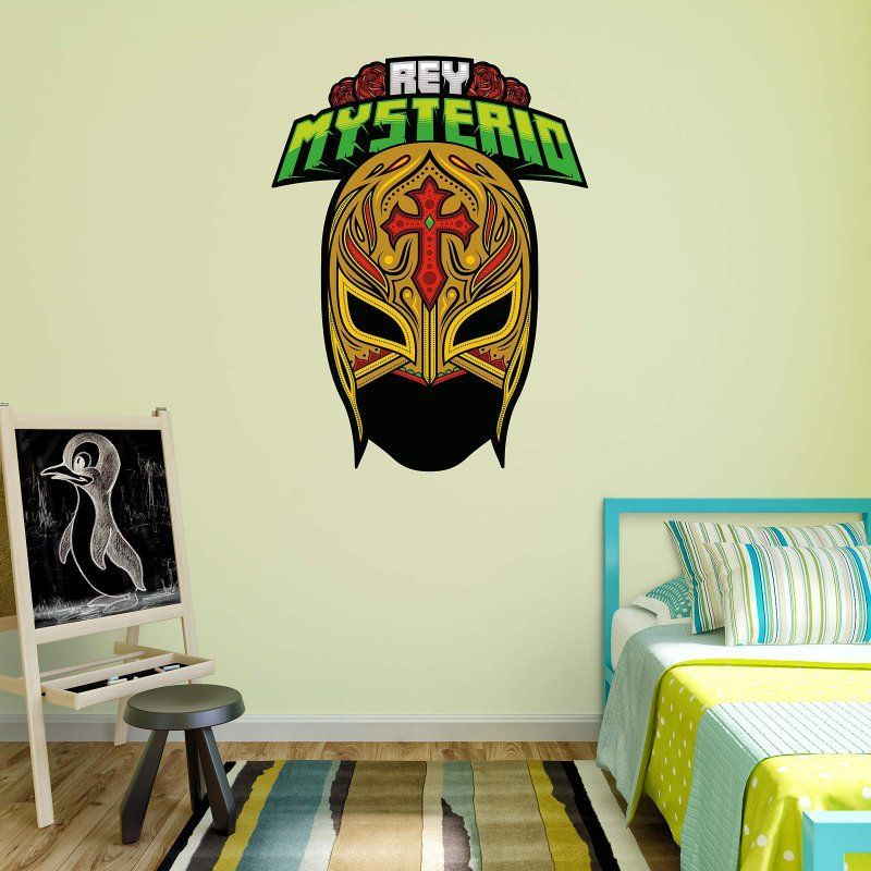 Fathead Wwe Rey Mysterio Mask Wall Decal 93 93061 Wall Decals Decals Home Decor Decals