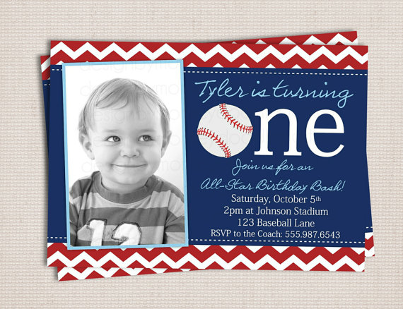 first birthday baseball party printable invitation jackson