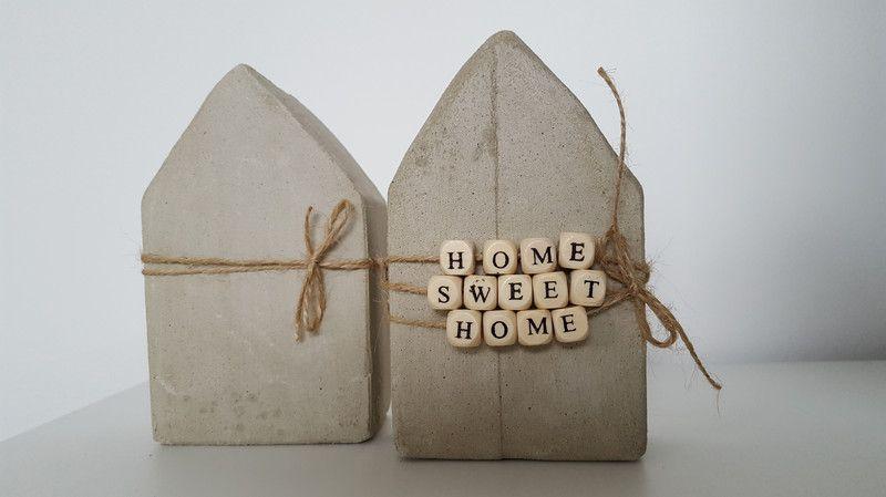 Deko-Objekte - Häuser Home Sweet Home - ein Designerstück von EvisBunteWelt bei DaWanda #ceramiccafe