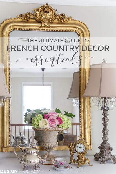 There are certain elements that are essential to modern French Country style. This ultimate guide to French Country decor will help you find the best of them! -----> #frenchcountrydecor #frenchcountrystyle #frenchhomedecor #modernfrenchcountry #frenchstyle #designthusiasm