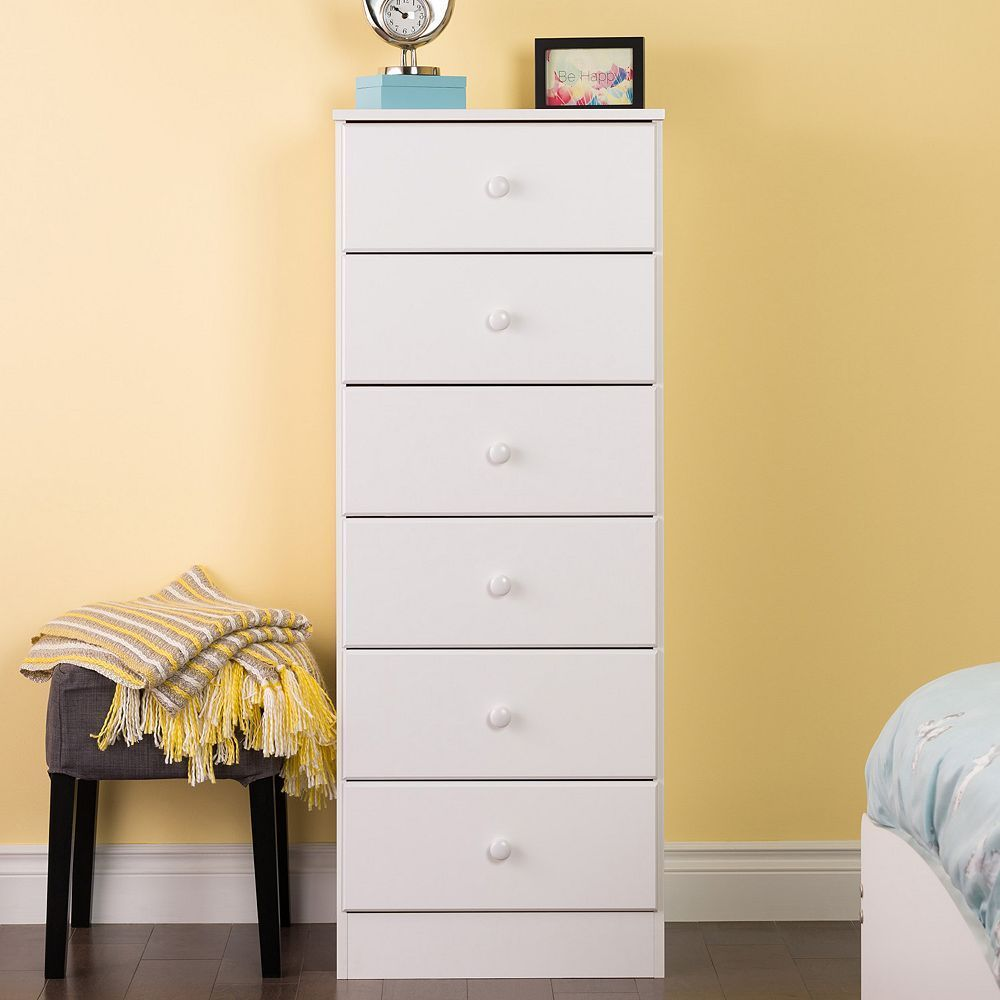 Prepac Astrid 6 Drawer Tall Dresser In 2021 Tall Drawers White Tall Chest White Chests [ 1000 x 1000 Pixel ]