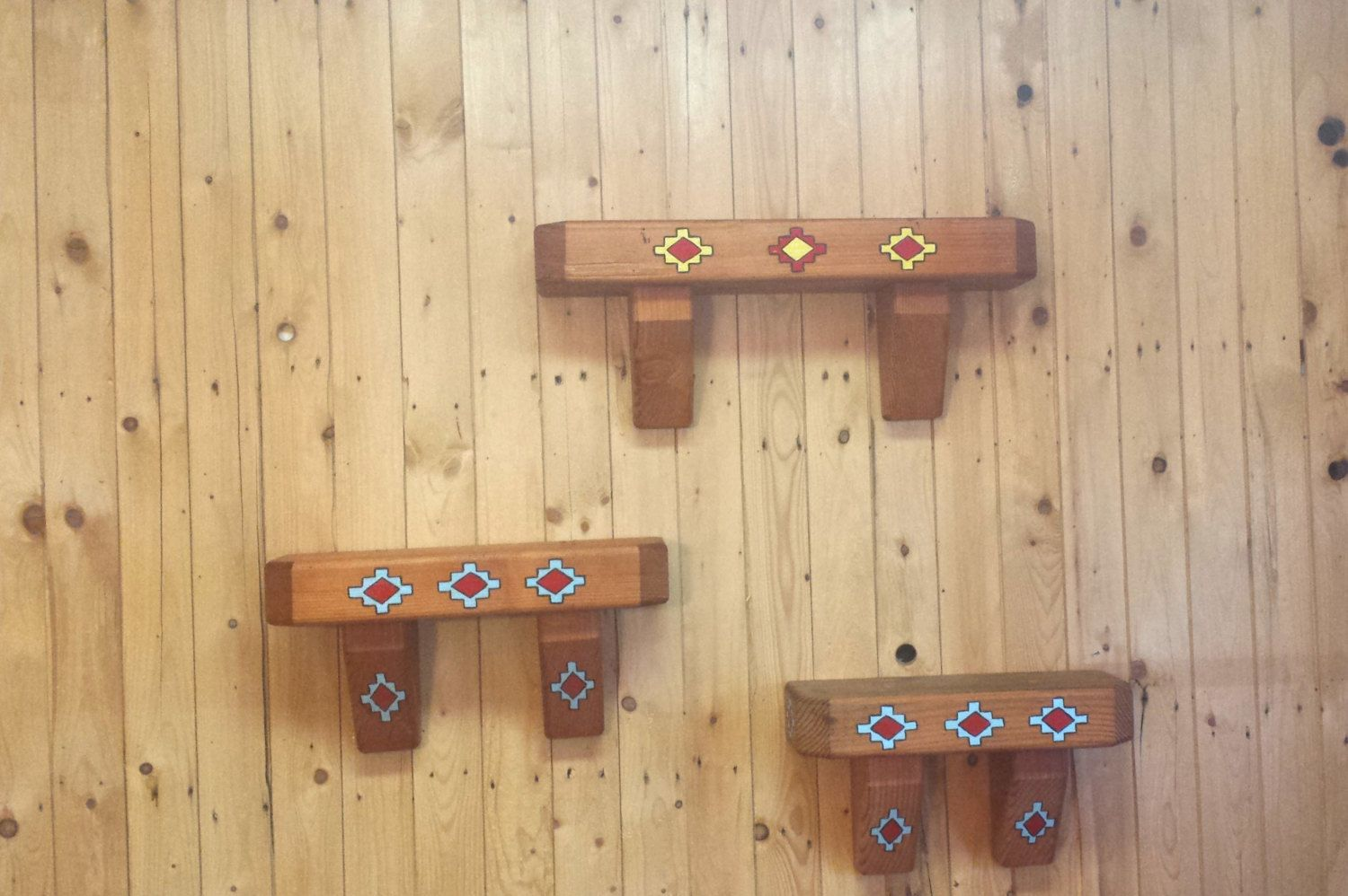 Indian, native american,tribal, wood, Douglas fir, shelves, wall art ...