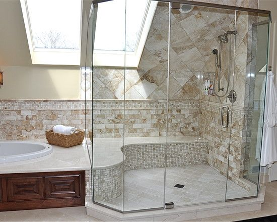 Stylish Bathroom Ideas | Simple Stylish Bathroom Design Ideas Tub Surround Shower Seat