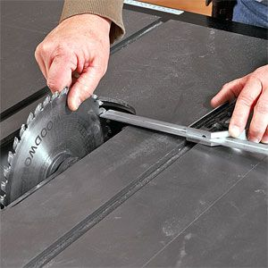 align your tablesaw blade fence and riving knife for maximum rh pinterest com