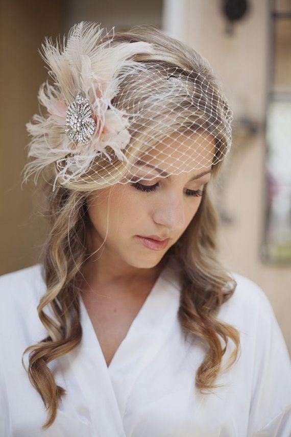 wedding veil bridal birdcage veil wedding by fascinatingcreations